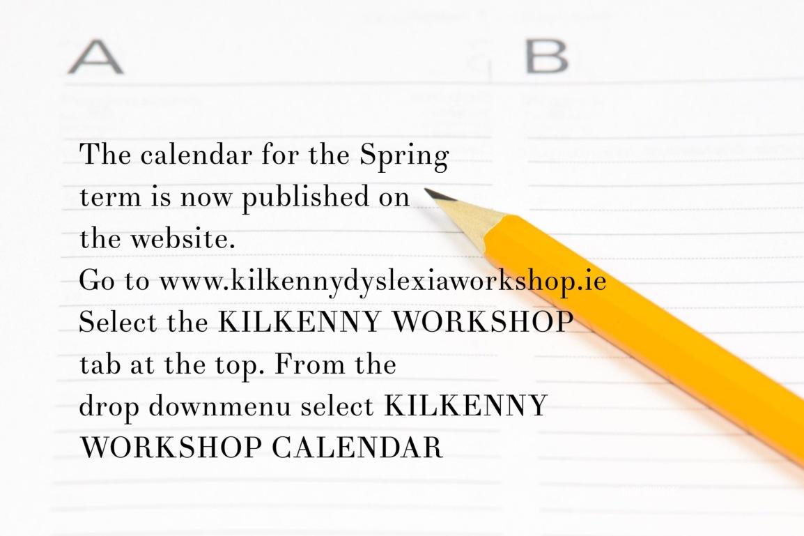 Workshop Calendar – Spring2017