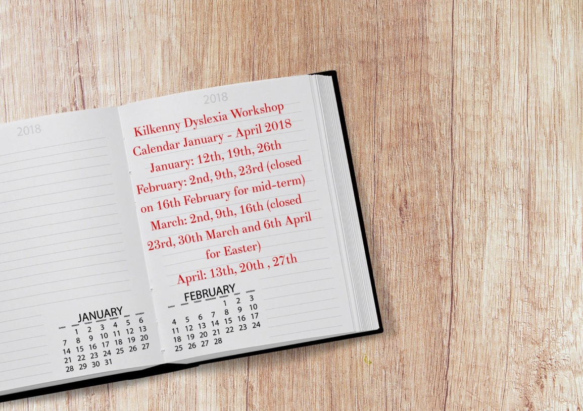 Workshop Calendar January – April 2018