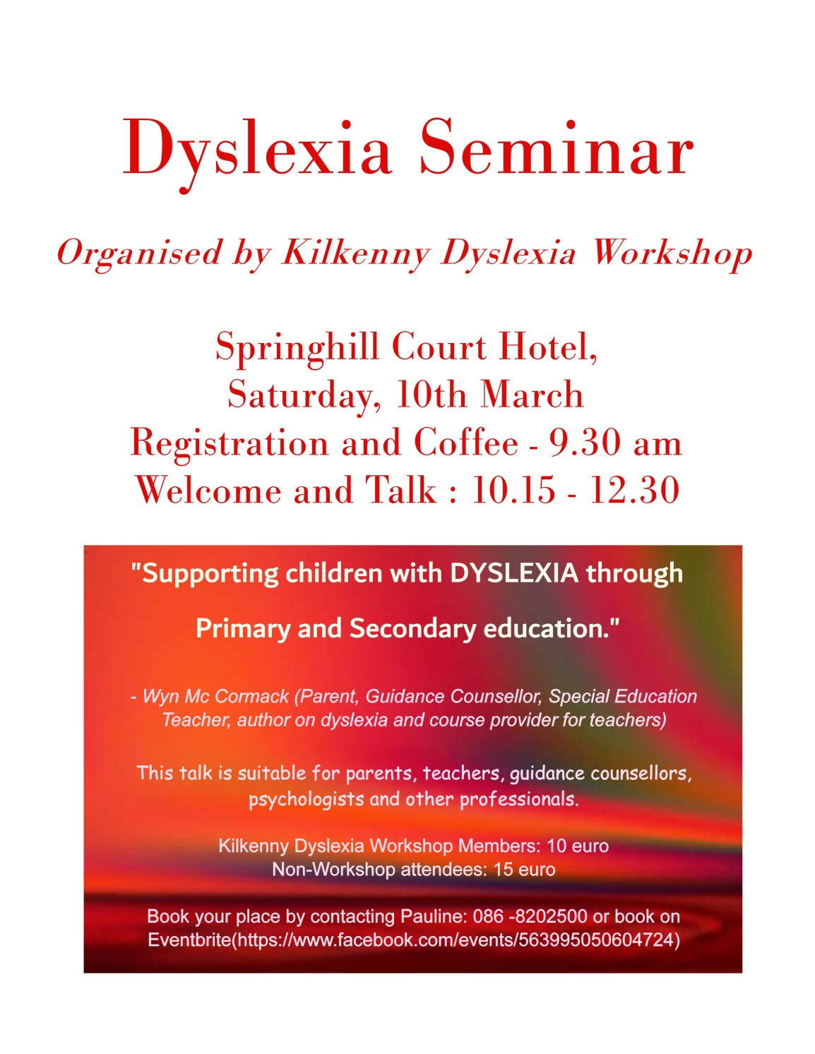 Supporting Children with Dyslexia through Primary and SecondaryEducation