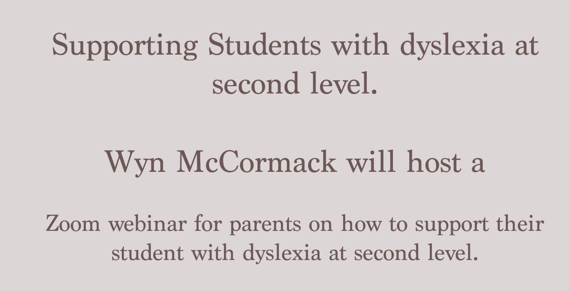 Supporting students with dyslexia at second level